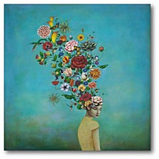 "Mindful Garden Gallery-Wrapped Canvas Wall Art - 16"" x 16"""