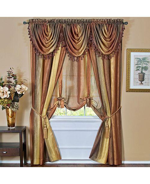 Achim Ombre Window Curtain Tie Up Shade, 50x63