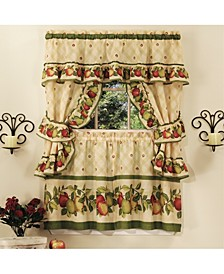 Apple Orchard Cottage Window Curtain Set, 57x36