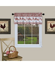 Barnyard Window Curtain Valance, 58x14