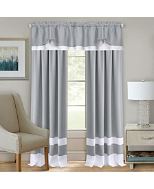Darcy Rod Pocket Window Curtain Panel, 52x63