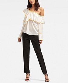 DKNY Long-Sleeve Ruffle Top
