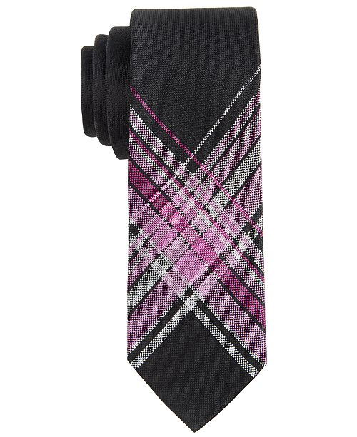 DKNY Big Boys Plaid Tie