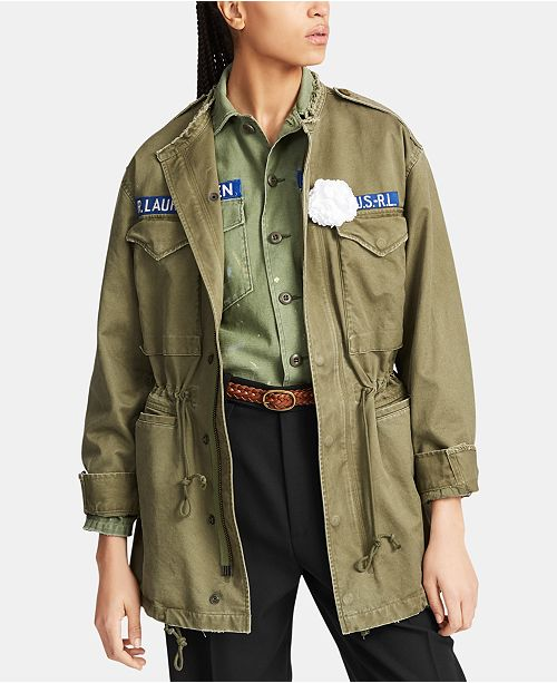 2eeafc828 Polo Ralph Lauren Twill Military-Inspired Jacket   Reviews - Jackets ...