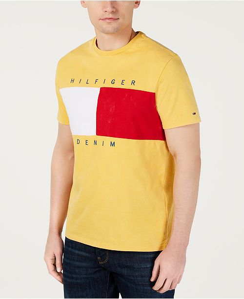 Tommy Hilfiger Men's Beason Colorblocked Logo Graphic T-Shirt, Created for Macy's