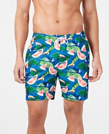 "Trunks Surf & Swim Co. Men's Watermelon Tropical-Print 6"" Volley Swim Trunks, Created for Macy's"