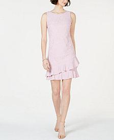 Jessica Howard Petite Lace Ruffle Dress