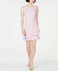 Jessica Howard Petite Lace Ruffle Dress
