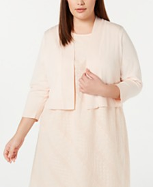 Calvin Klein Plus Size Blossom Shrug Cardigan