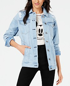 Kendall + Kylie Ripped Denim Trucker Jacket