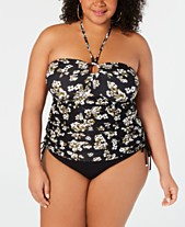 7bdf6e91809626 MICHAEL Michael Kors Plus Size Printed Tankini Top & Bikini Bottoms