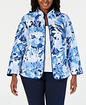 31bdb3a44a7 Alfred Dunner Plus Size Classic Floral-Print Jacket