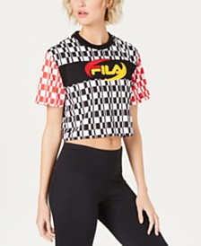 Fila Alba Colorblocked Cropped T-Shirt