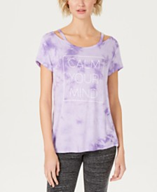 Ideology Tie-Dyed Graphic Cutout T-Shirt, Created for Macy's