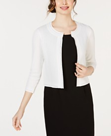 Taylor 3/4-Sleeve Trim Shrug