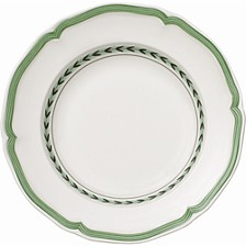 French Garden Green Lines Rim Soup
