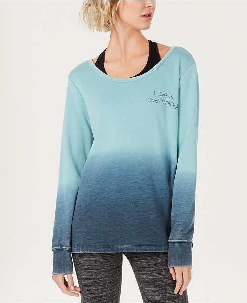 Ideology Graphic Ombré V-Back Top, Created for Macy's