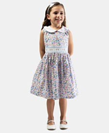 Bonnie Jean Toddler Girls Smocked Floral-Print Dress