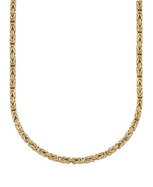 Macy S Byzantine Link 20 Chain Necklace 2 5mm In 18k Gold Reviews Necklaces Jewelry Watches Macy S