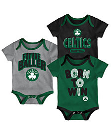 Outerstuff Boston Celtics 3 Piece Bodysuit Set, Infants (0-9 Months)