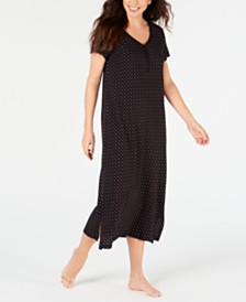Charter Club Printed Soft Knit Cotton Nightgown, Created for Macy's