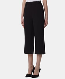 Tahari Petite Pull-On Wide Leg Capris