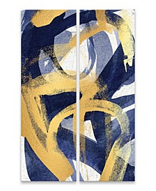 "Rotunda 2 Pc Hand Embellished Canvas Art - 11"" W x 28"" H x 2.5"" D"