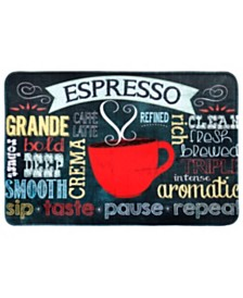 Home Dynamix Relaxed Chef Cushioned Anti-Fatigue Memory Foam Kitchen Mat Espresso Cup