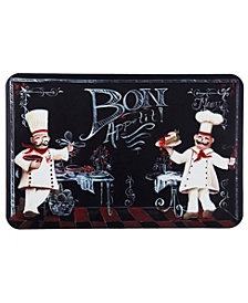 "Home Dynami x Designer Chef Chalkboard Chefs Cushioned Anti-Fatigue Kitchen Mat 24"" x 36"""
