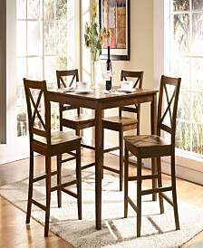 Martha 5-Piece Counter Height Set