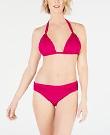 Lauren Ralph Lauren Triangle Halter Bikini Top & Hipster Bottoms