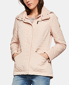 BCBGeneration Quilted Hooded Anorak