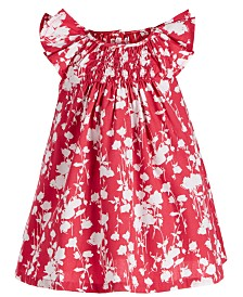 First Impressions Baby Girls Rose-Print Dress, Created for Macy's
