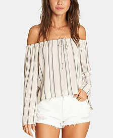 Billabong Juniors' Printed Off-The-Shoulder Top