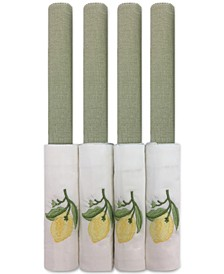 Sage Lemon Embroidered 8-Pc. Placemat and Napkin Set, Service for 4