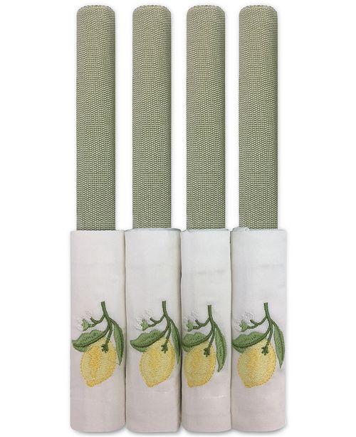 Leila's Linens Sage Lemon Embroidered 8-Pc. Placemat and Napkin Set, Service for 4