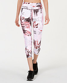 Calvin Klein Performance Isla Printed High-Rise Cropped Leggings