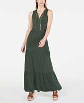 a8c98de424d MICHAEL Michael Kors Chain Lace-Up Maxi Dress