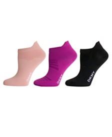 DKNY Sport Women's 3 Pack Microfiber Low-Cut Socks