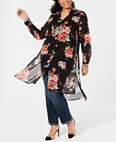Plus Size Tops - Womens Plus Size Blouses   Shirts - Macy s d6b135351c1e