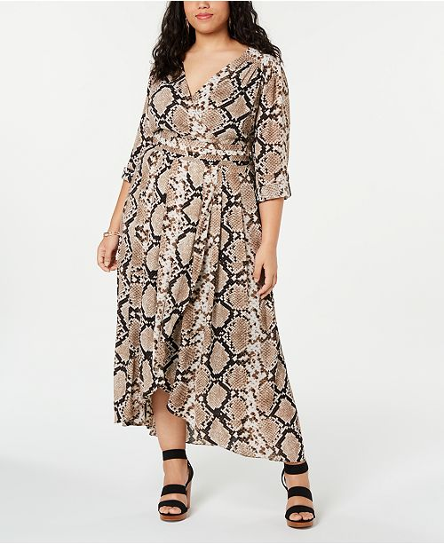 INC International Concepts I.N.C. Plus Size Snake Printed ...