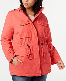 Levi's® Plus Size Cotton Utility Jacket