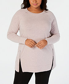 Ideology Plus Size Zip-Front Tunic, Created for Macy's