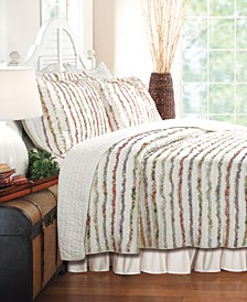 Bella Ruffle Quilt Set, 3-Piece Full - Queen