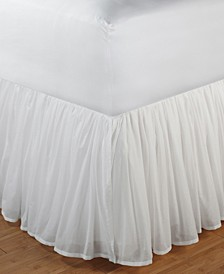 "Cotton Voile Bed Skirt 15"" Full"