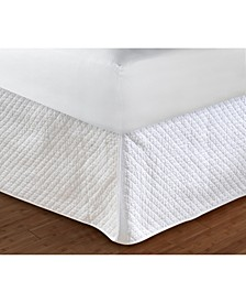 "Diamond Quilted Bed Skirt 18"" Full"