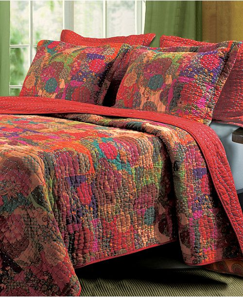 Greenland Home Fashions Jewel Quilt Set, 3-Piece King
