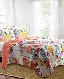 Watercolor Dream Quilt Set, 3-Piece Full - Queen