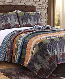 Black Bear Lodge Quilt Set, 3-Piece King