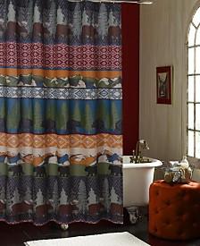 Black Bear Lodge Bath Shower Curtain